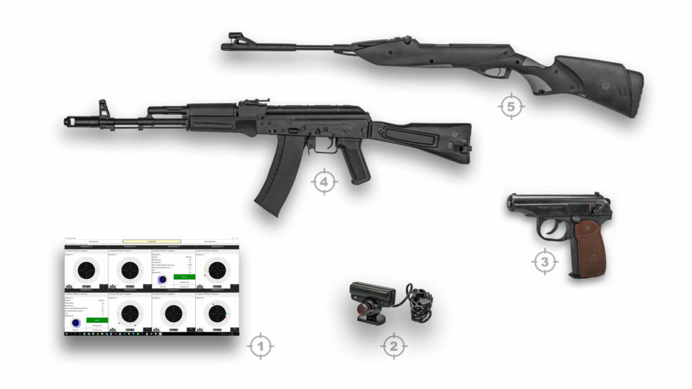 Интерактивный лазерный тир ⋆ ТИР ЭЛЕКТРОН ⋆ комплект4